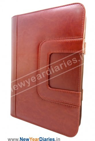 1624 PR DPU Special Leather Handle Diary 2019 with Zipper Lock