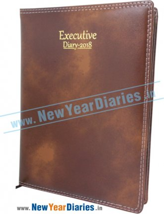 72 - Executive DT Rexino Leather Diary DS Planner Diary 2018