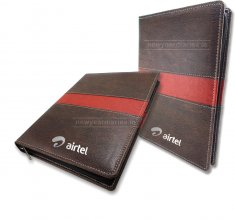 1430 KM Executive Folder Diary with Zipper Combi #leather-diary