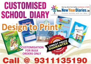 Customised School Diaries Printing