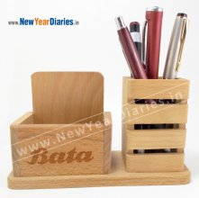 1205 NYD WOODEN MOBILE & PEN STAND #wooden-mobile-stand