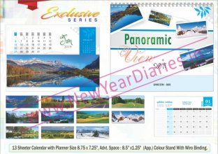 TC 005 Nature Panorama Table Calendar 2019