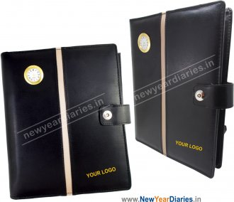 1640 Management Diary Folder with Watch & Magnet Lock