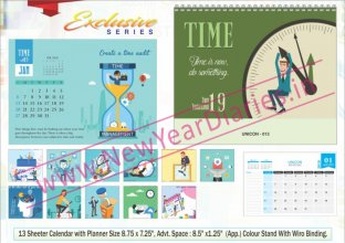 TC 013 Time Management Table Calendar 2019
