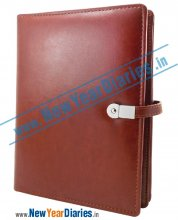 Bronzy Brown Diary with Power Bank #diary-with-power-bank-&-usb
