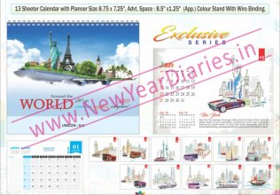 TC 014 World's Travel Attractions Table Calendar 2019