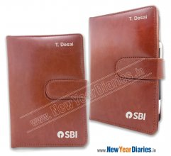 ORG 5 PR PU LEATHER ORGANISER HIDDEN MAGNET