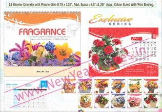 TC 004 Flowers Table Calendar 2019