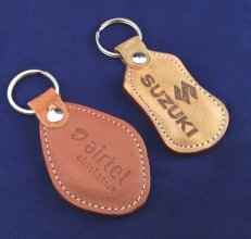 CUSTOMISED LEATHER KEYCHAIN