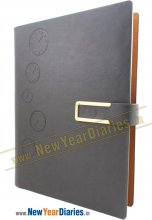 RPU 7A Grey PU Leather Planner #PU_Business Planner